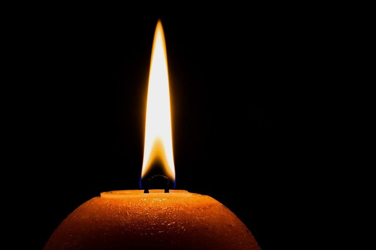 emergency candle in the dark